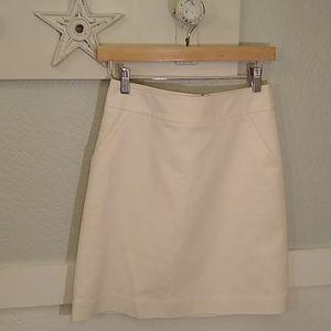 Banana Republic winter white A line skirt 0